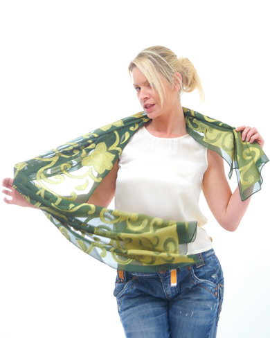 Long Sheer Silk Scarf
