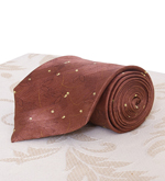 Autumn Brown Silk Tie