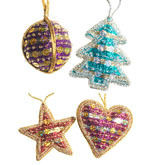 Bead and Sequin Christmas Decorations